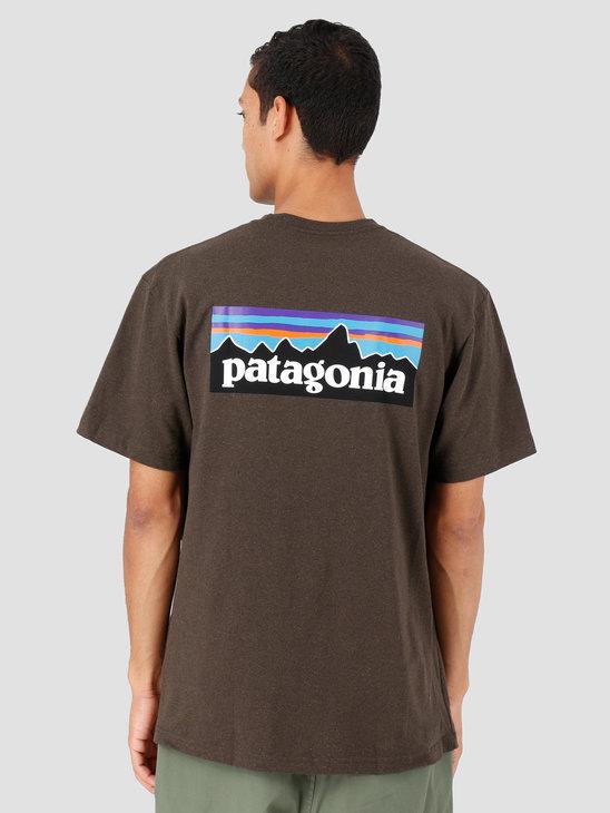 Patagonia P-6 Logo Responsibili-T-Shirt Logwood Brown 39174