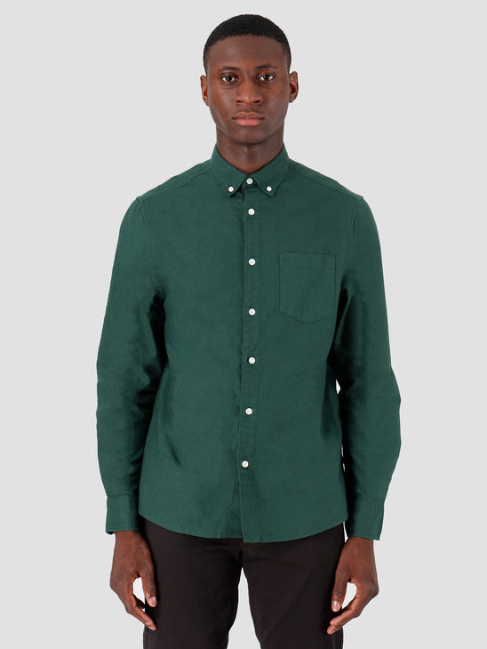 Quality Blanks QB40 Oxford Shirt Pine Needle