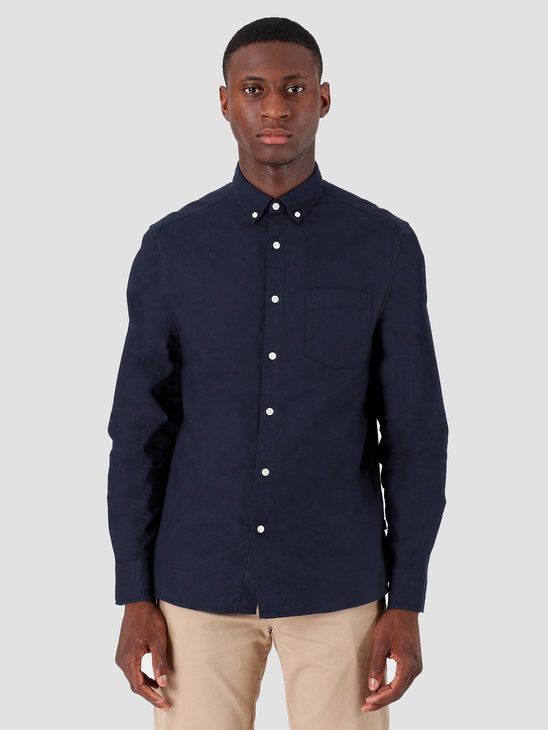 Quality Blanks QB40 Oxford Shirt Navy