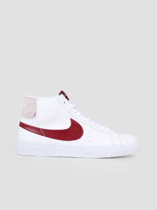 Nike SB Zoom Blazer Mid Prm White Team Red CJ6983-101