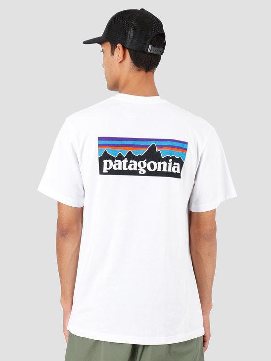 Patagonia P-6 Logo Pocket Responsibili T-Shirt White 39178