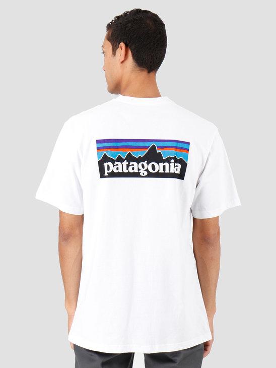 Patagonia P-6 Logo Responsibili T-Shirt White 39174