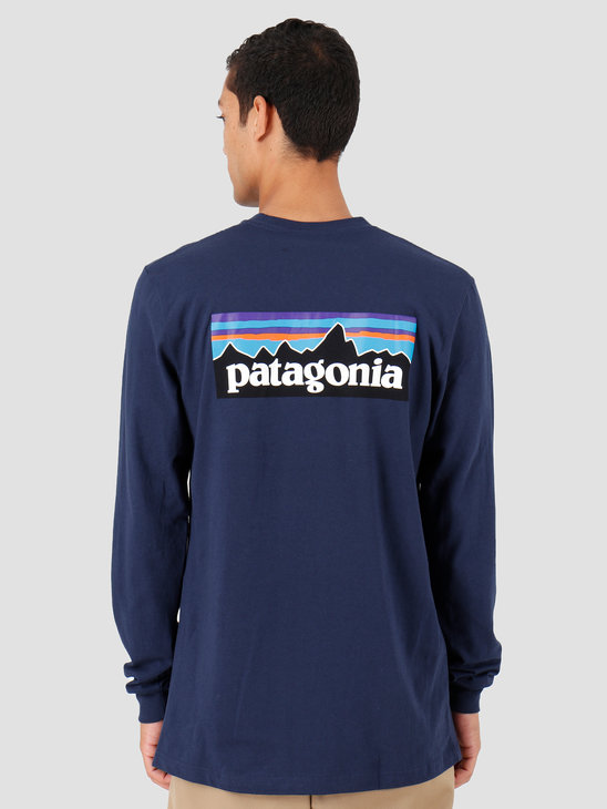 Patagonia P-6 Logo Responsibili Longsleeve Classic Navy 39161