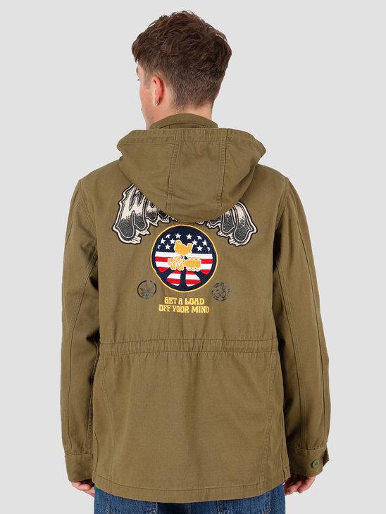 HUF Woodstock Objector M65 Jacket Olive JK00208