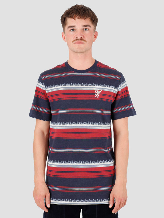 HUF Hana Striped Knit Top Dark Navy KN00119-DKNAV