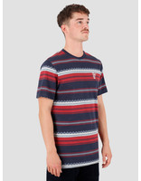 HUF HUF Hana Striped Knit Top Dark Navy KN00119-DKNAV