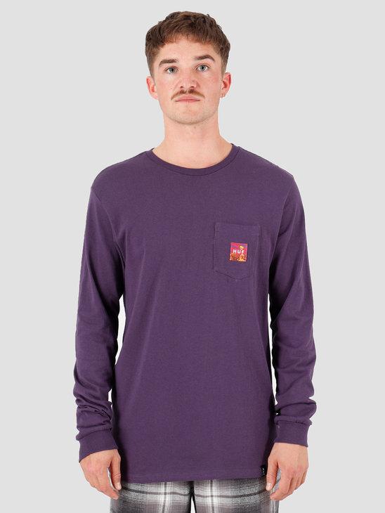 HUF Sedona Longsleeve Pocket T-Shirt Purple Velvet TS00876-PRPLV