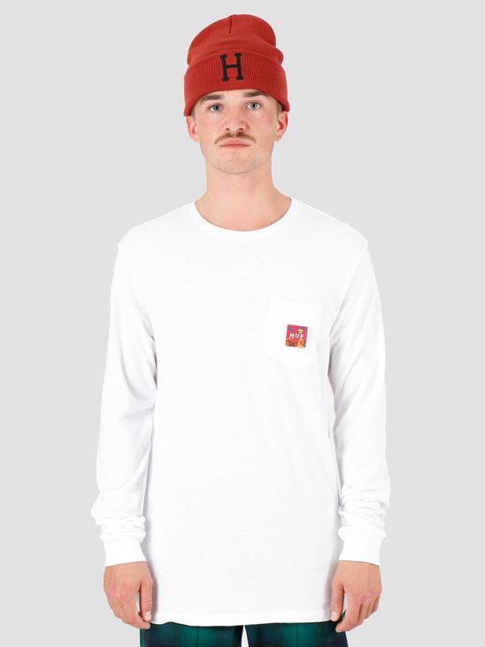 HUF Sedona Longsleeve Pocket T-Shirt White TS00876-WHITE
