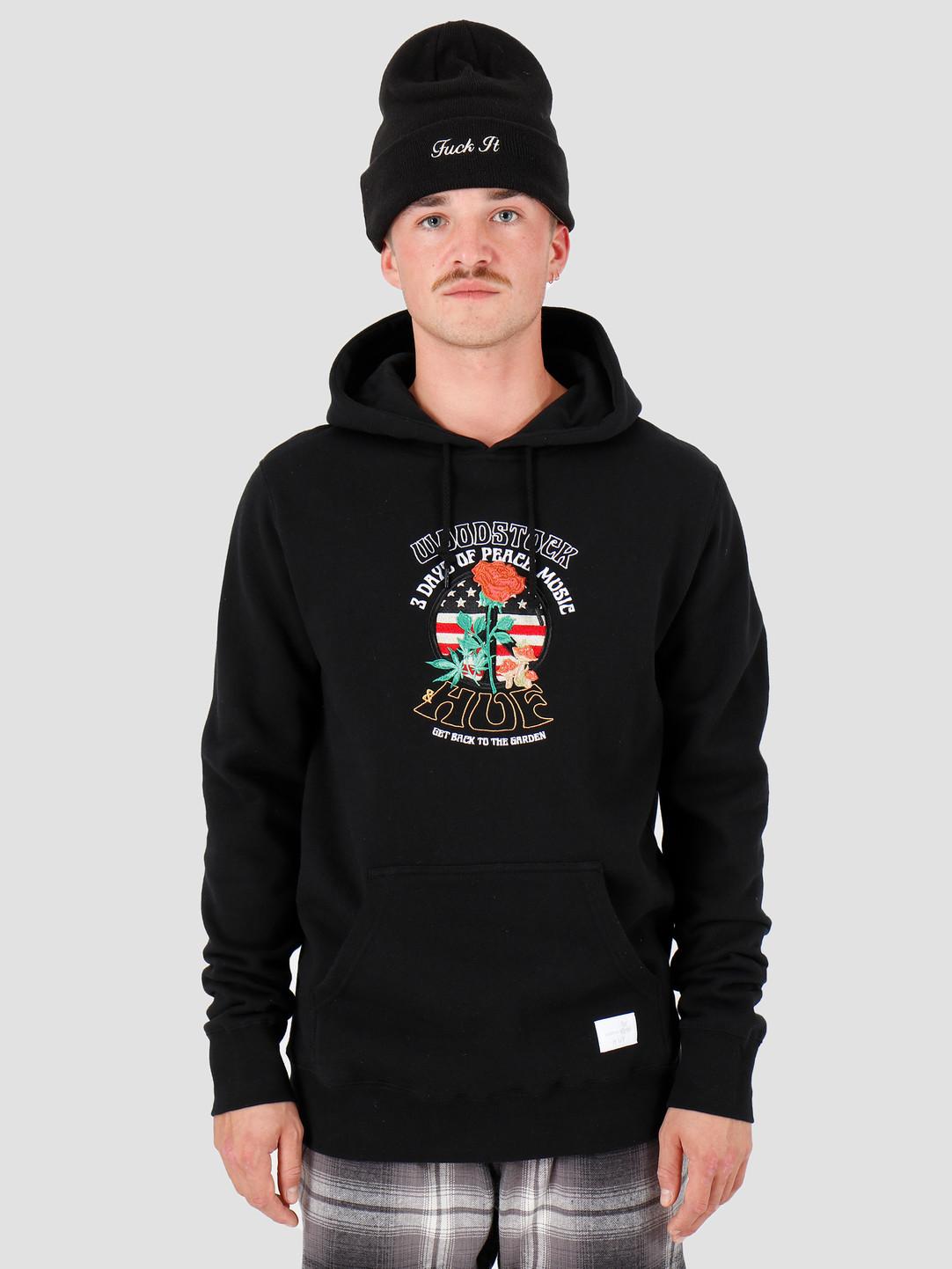 HUF HUF Woodstock Hoodie Black PF00222