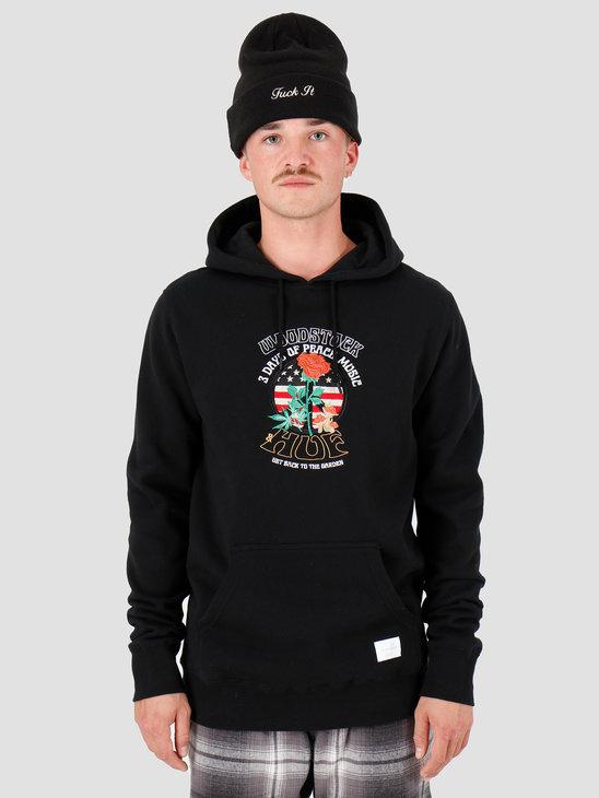 HUF Woodstock Hoodie Black PF00222