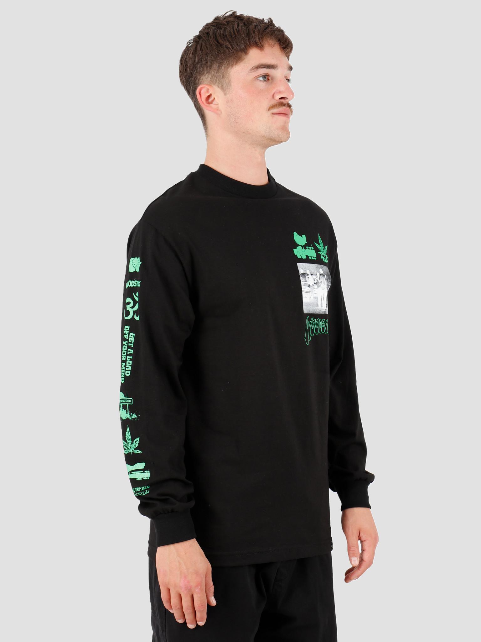 HUF HUF Woodstock Loaded Longsleeve T-Shirt Black TS00977