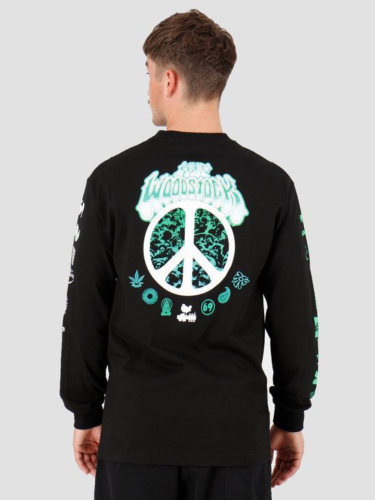 HUF Woodstock Loaded Longsleeve T-Shirt Black TS00977