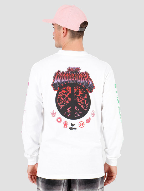 HUF Woodstock Loaded Longsleeve T-Shirt White TS00977