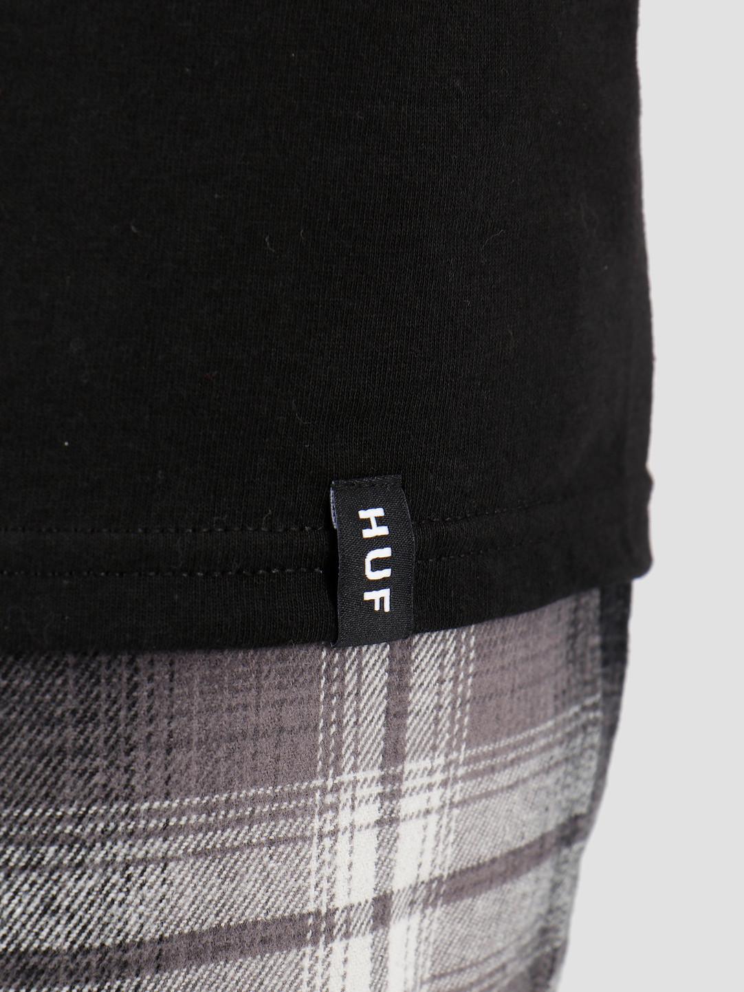 HUF HUF Essentials OG Logo T-Shirt Black TS00508
