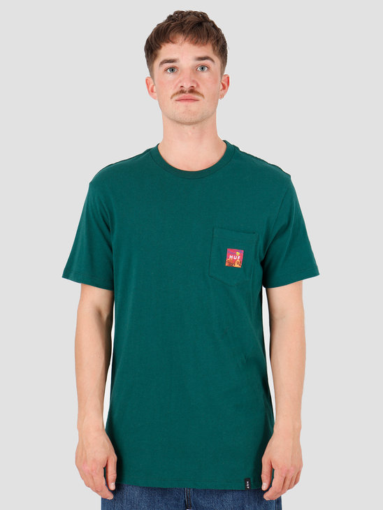 HUF Sedona Pocket T-Shirt Botanical Green TS00814-BTCGN
