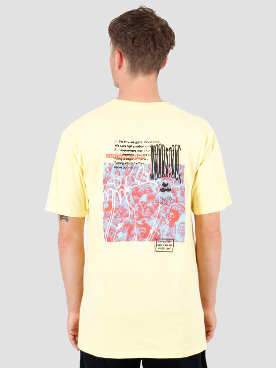 HUF Woodstock Nobody Came T-Shirt Yellow TS00978