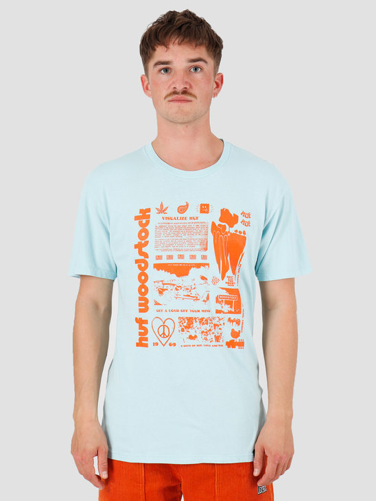 HUF Woodstock Visualize T-Shirt Powder Blue TS01035
