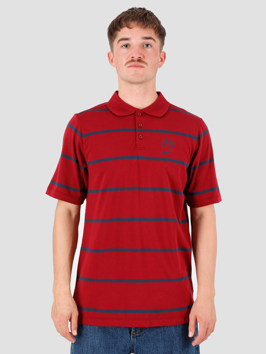 Nike SB Dry Polo Jersey F19 Team Red Obsidian Obsidian AT3421-677