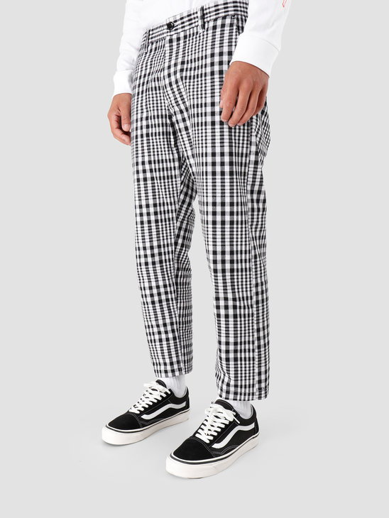 Obey Straggler Plaid Flooded Pant Black Multi 142020126-BKM