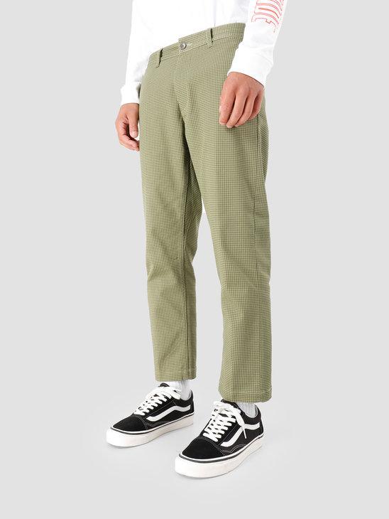 Obey Straggler Houndstooth Pant Olive Multi 142020114-OLV