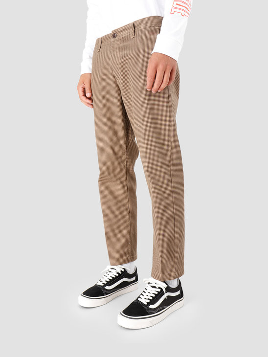 Obey Straggler Houndstooth Pant Khaki multi 142020114-KHA