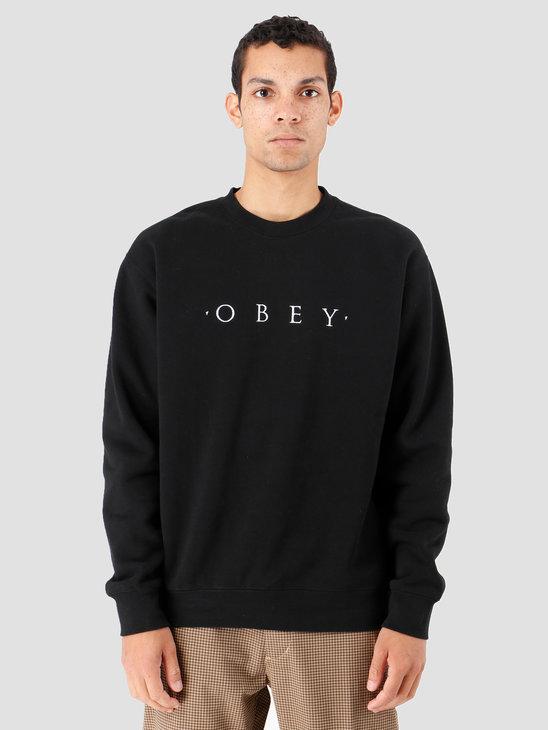 Obey Nouvelle II Crew Black 112480055-BLK