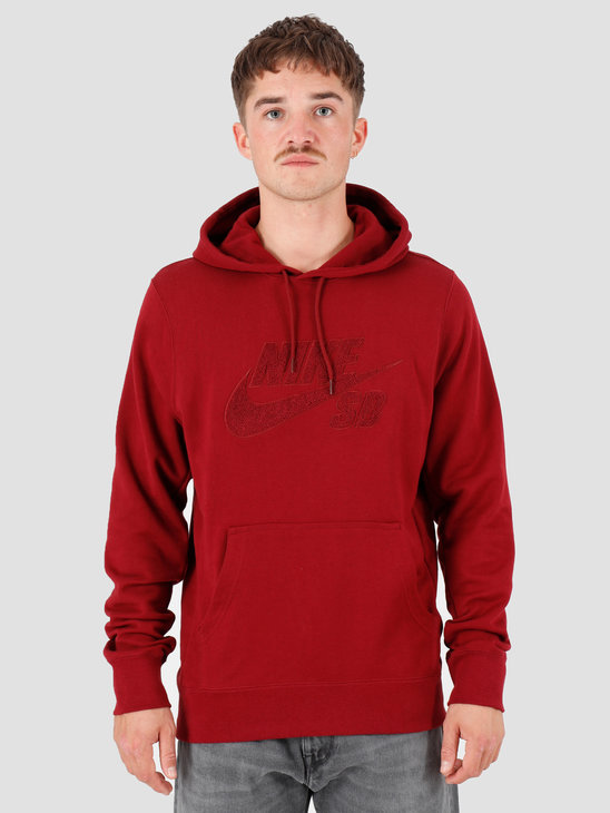Nike SB Seasonal Po Hoodie Team Red Team Red Team Red AT3414-677