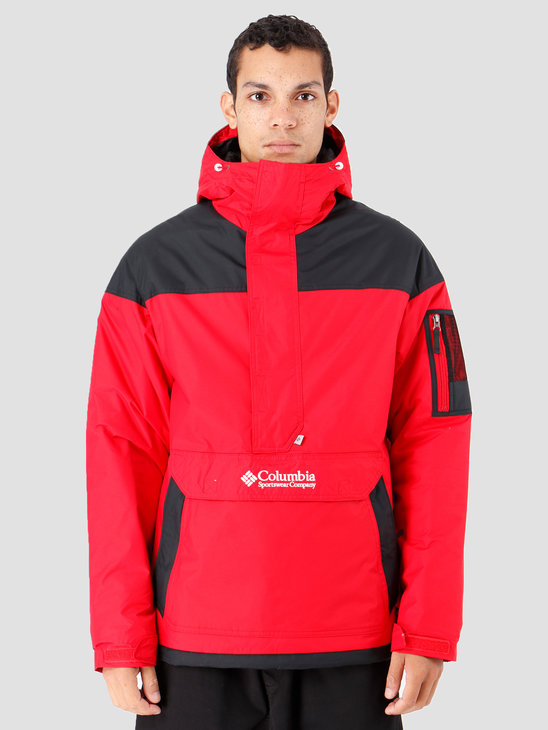 Columbia Challenger Pullover Mountain Red Black 1698431613