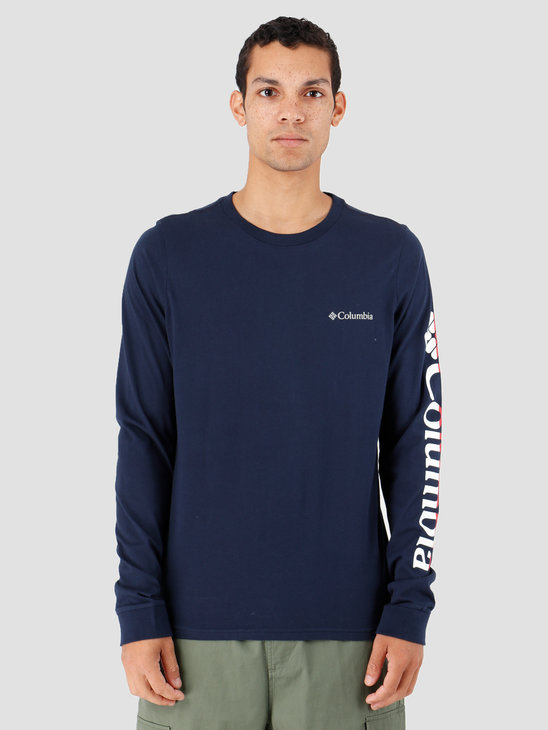 Columbia Columbia Lodge Longsleeve Graphic Tee Collegiate Navy 1867302464