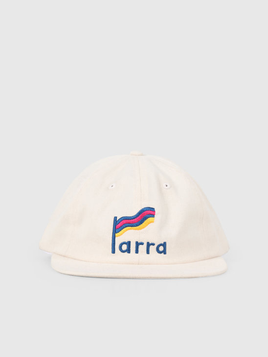 By Parra Striped Flag 6 Panel Hat Off White 42830
