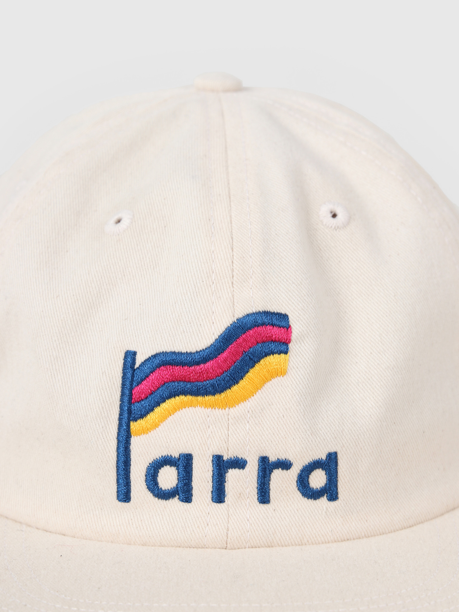 By Parra By Parra Striped Flag 6 Panel Hat Off White 42830