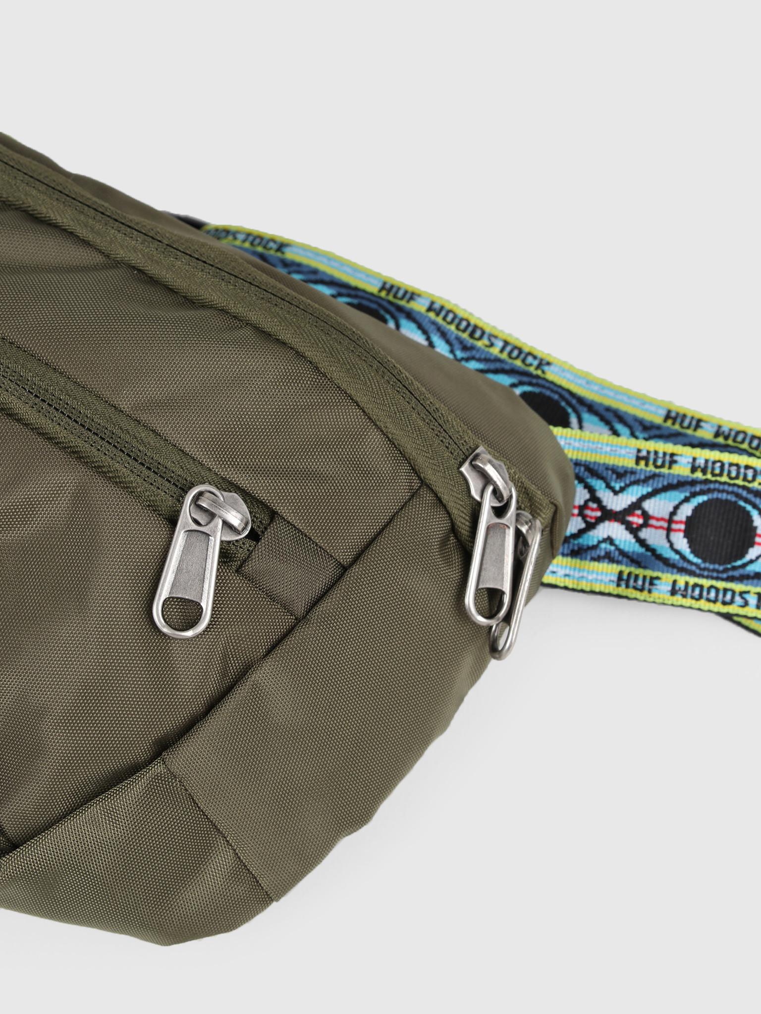 HUF HUF Woodstock Side Trip Bag Olive AC00327