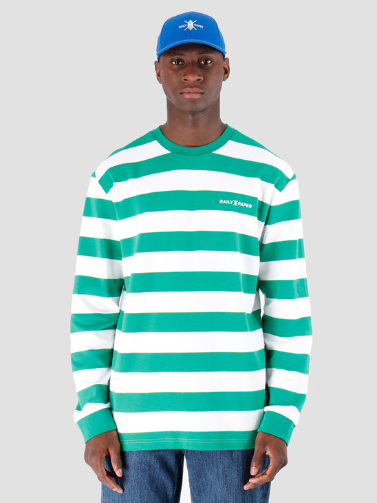 Daily Paper Astripe Longsleeve Jolly Green White 19E1LS01-03
