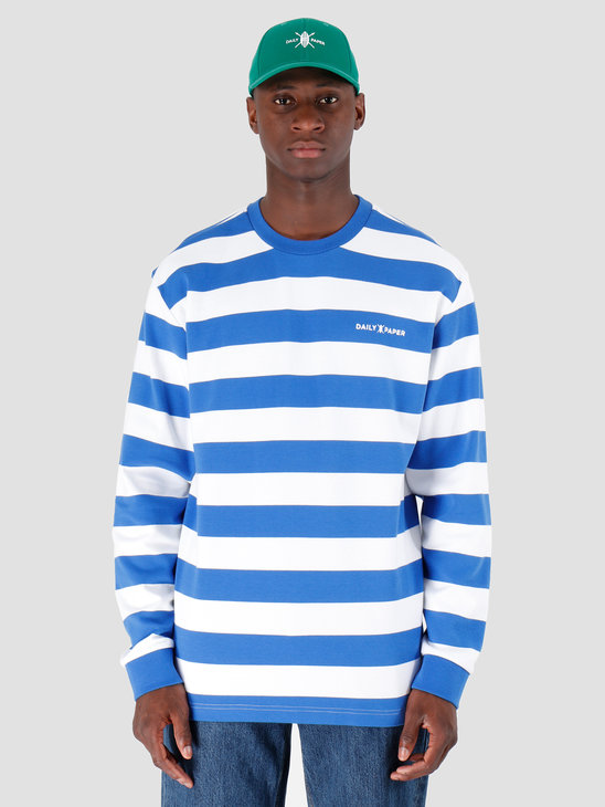 Daily Paper Astripe Longsleeve Turkish Sea White 19E1LS01-02