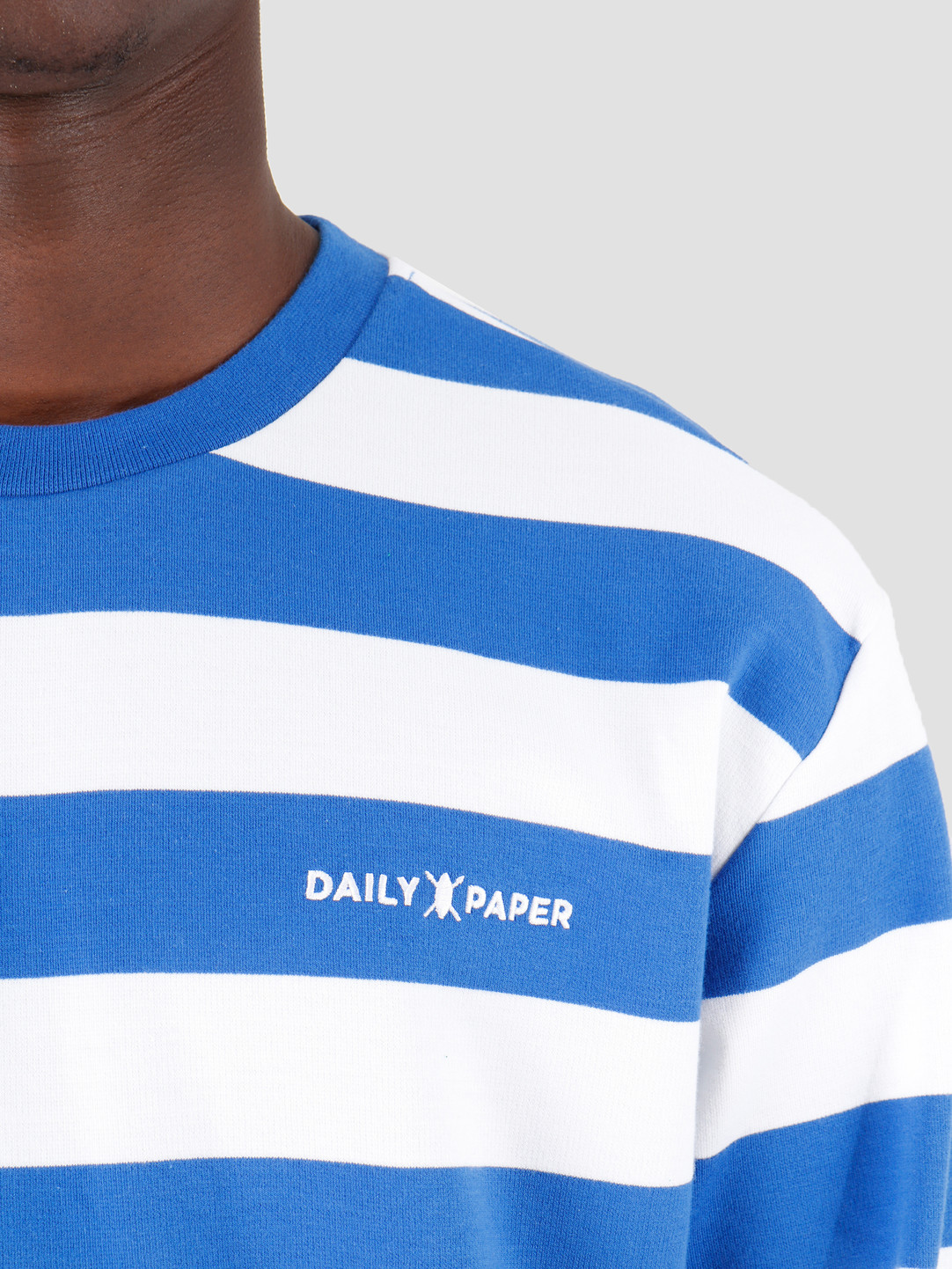 Daily Paper Daily Paper Astripe Longsleeve Turkish Sea White 19E1LS01-02