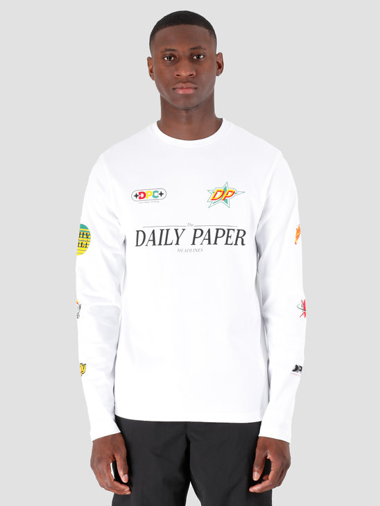 Daily Paper Geff Longsleeve White 19F1LS09-02
