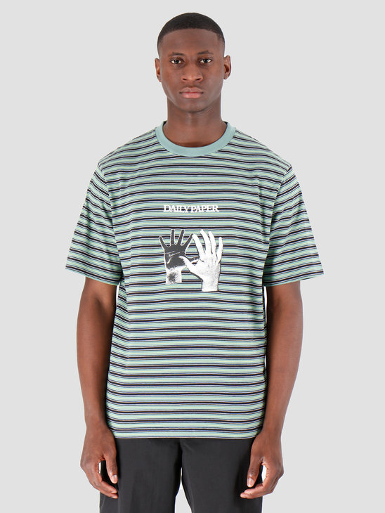 Daily Paper Gorstrack  T-Shirt Black White Bristol Blue Sulphur Spring 19F1TS11-01