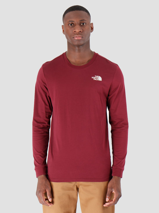 The North Face Longsleeve Simple Dome Deep Garnet Red T93L3BHBM