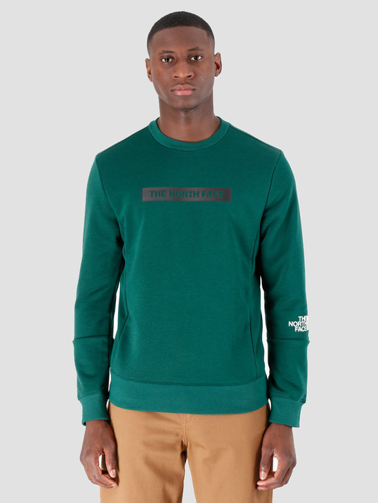 The North Face Light Crew Night Green T93RYDN3P