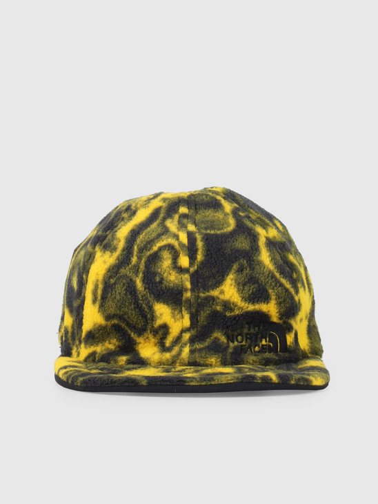 The North Face 94 Rage Reverse Fleece Cap Black Leopard Yellow T93FNVH22
