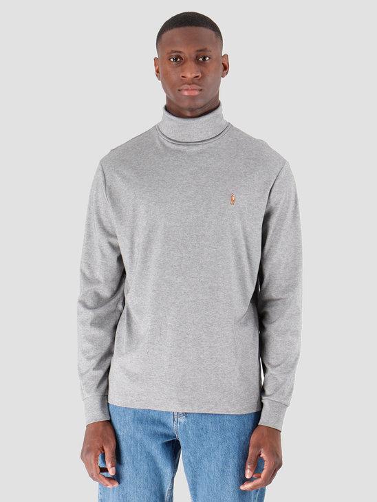 Polo Ralph Lauren Lsturtlem1 Long Sleeve Knit Boulder Grey Heather 710760126006