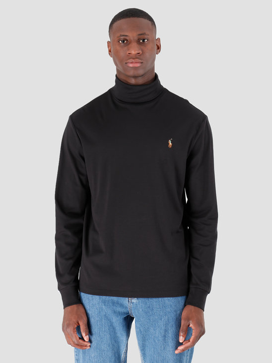 Polo Ralph Lauren Lsturtlem1 Long Sleeve Knit Polo Black 710760126001