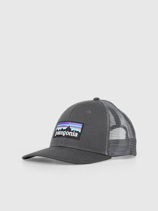 Patagonia P-6 Logo Trucker Hat Forge Grey 38017