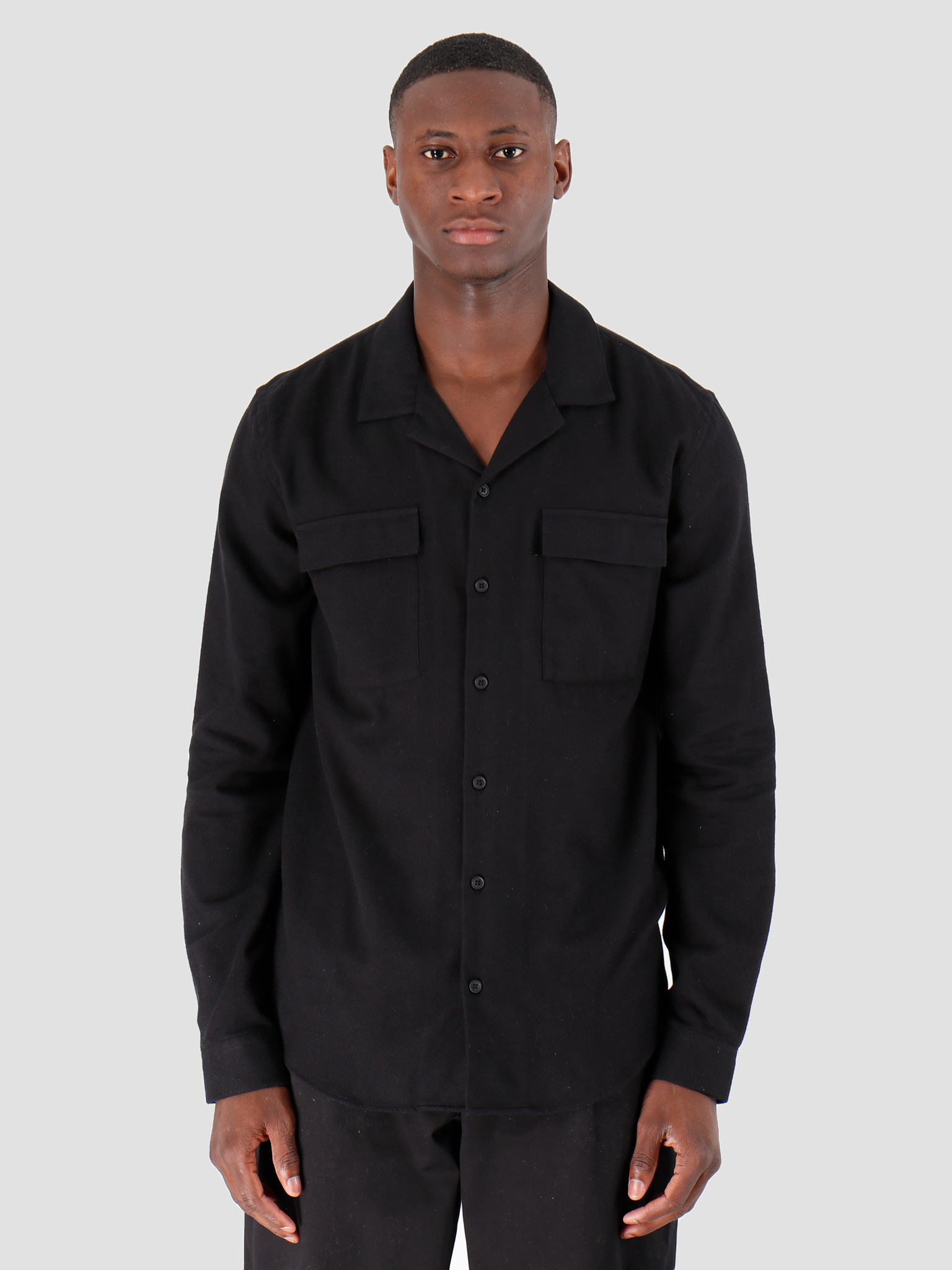 Libertine Libertine Cave Pocket Dress Shirt Black 1739
