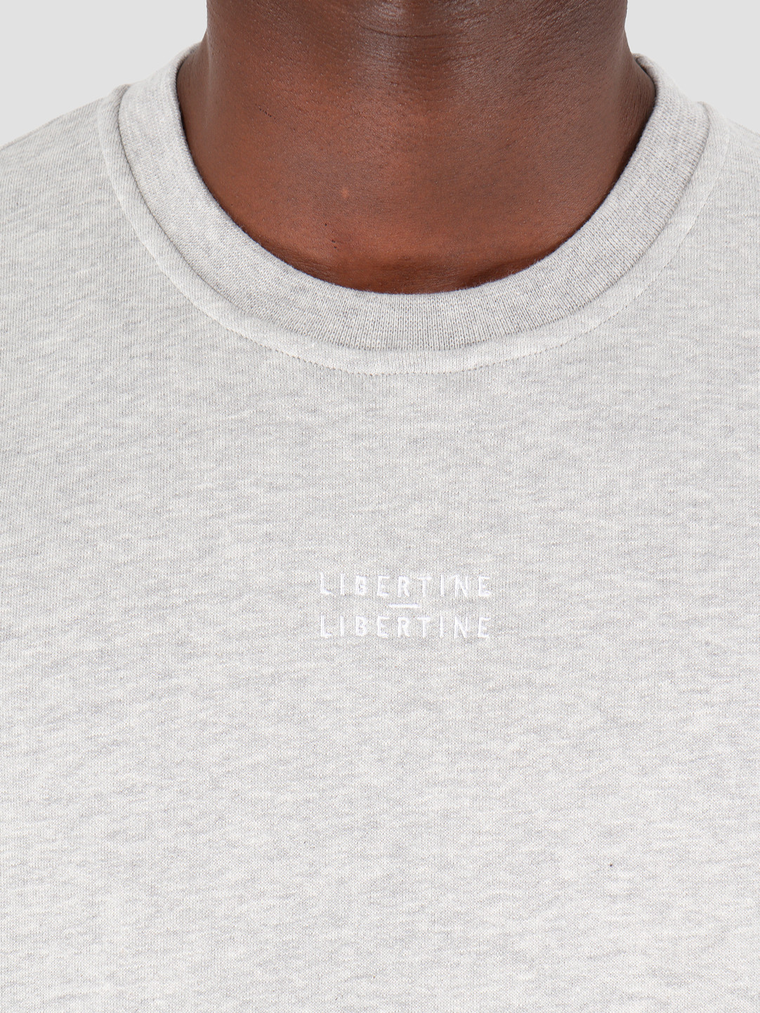 Libertine Libertine Libertine Libertine Society Logo O-Neck Grey Melange 1752