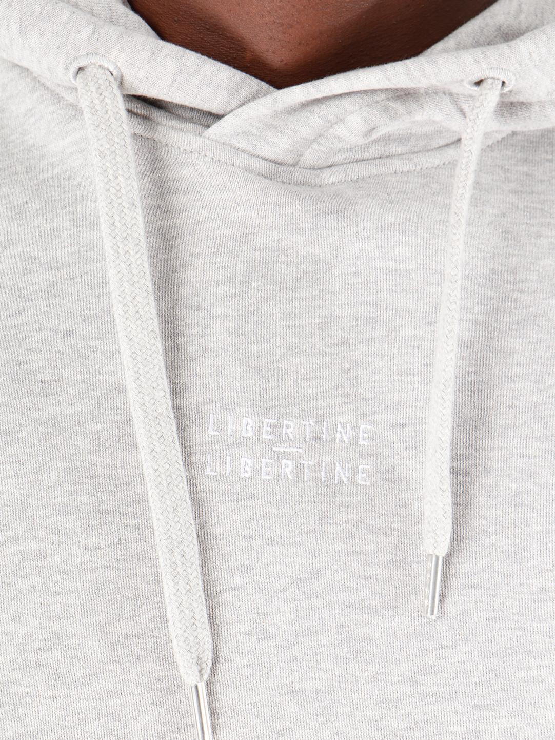 Libertine Libertine Libertine Libertine Copeland Logo Hoodie Grey Melange 1752