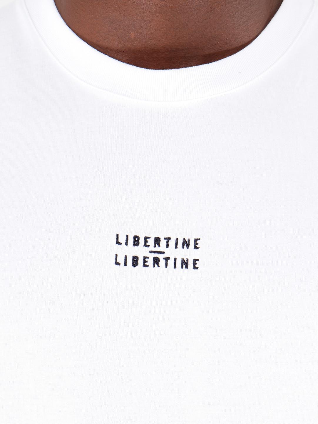 Libertine Libertine Libertine Libertine Cooper Logo Tee Longsleeve White 1642
