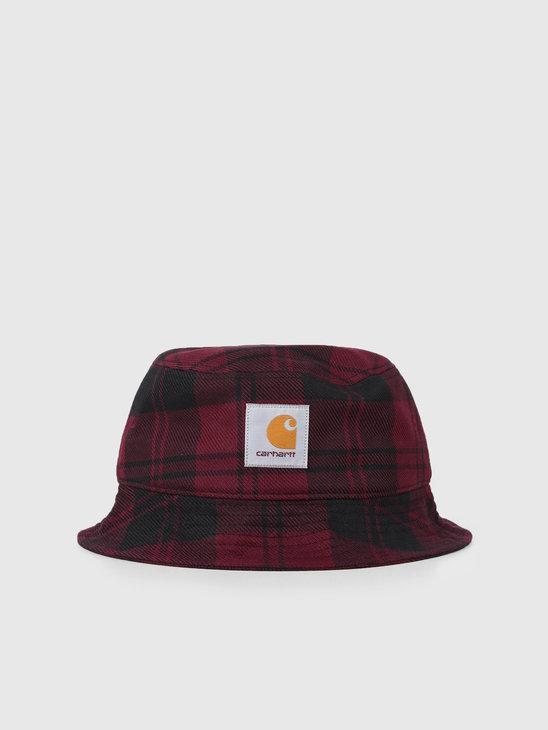 Carhartt WIP Pulford Bucket Hat Pulford Check Merlot I026887