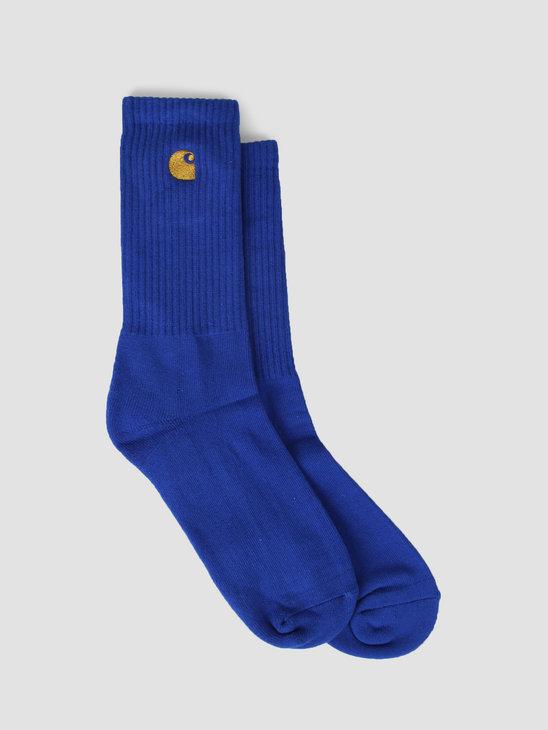 Carhartt WIP Chase Socks Thunder Blue Gold I026527