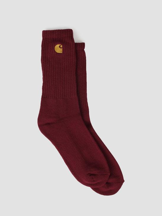 Carhartt WIP Chase Socks Merlot Gold I026527